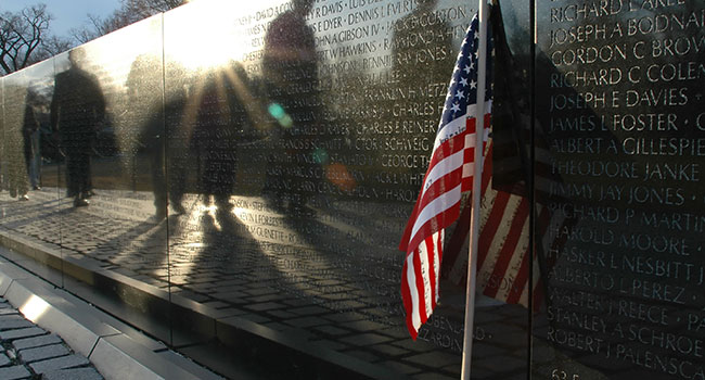 Vietnam War Veterans Memorial at Washington