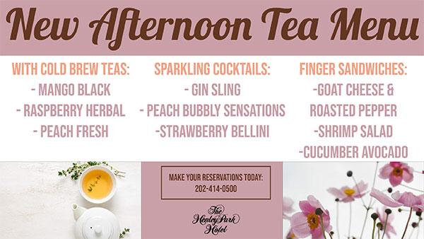 New Afternoon Tea Menu